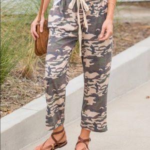 Muted Camo Crop Lounge Pants